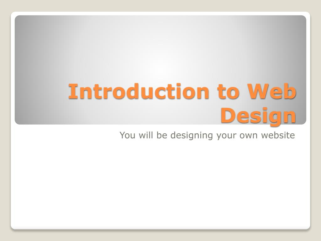 Ppt Introduction To Web Design Powerpoint Presentation Free Download Id 2933474