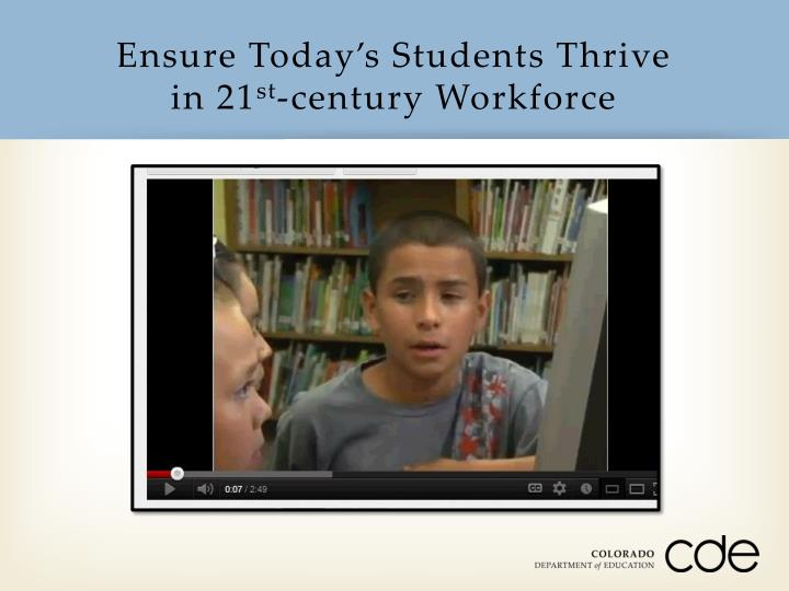 Ensure Today's Students Thrive