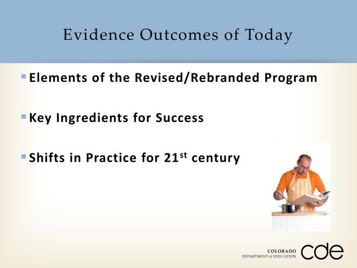 Evidence Outcomes of Today