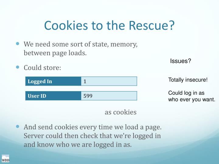 Cookies to the Rescue?