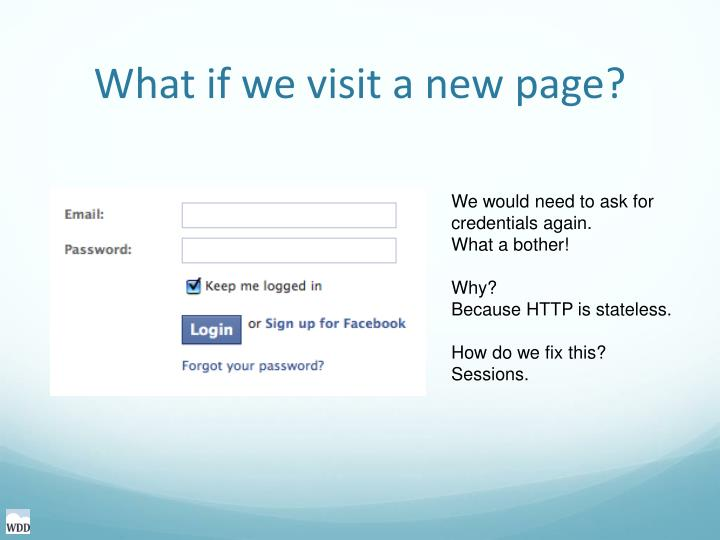 What if we visit a new page?