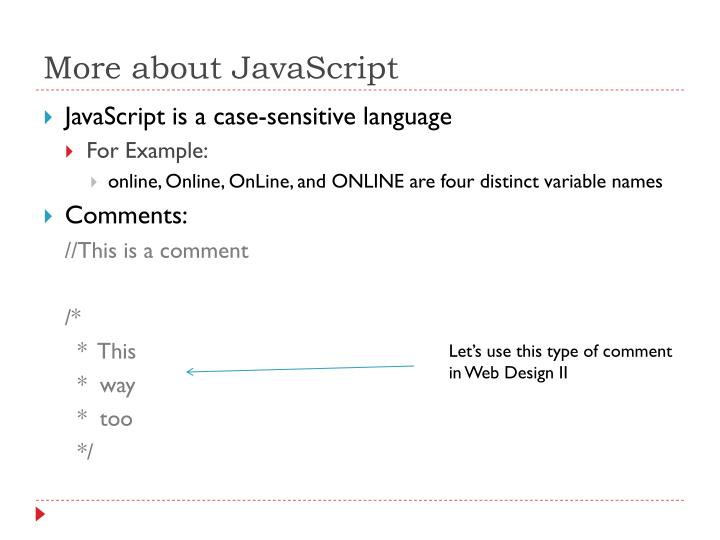 More about JavaScript
