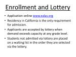 enrollment and lottery