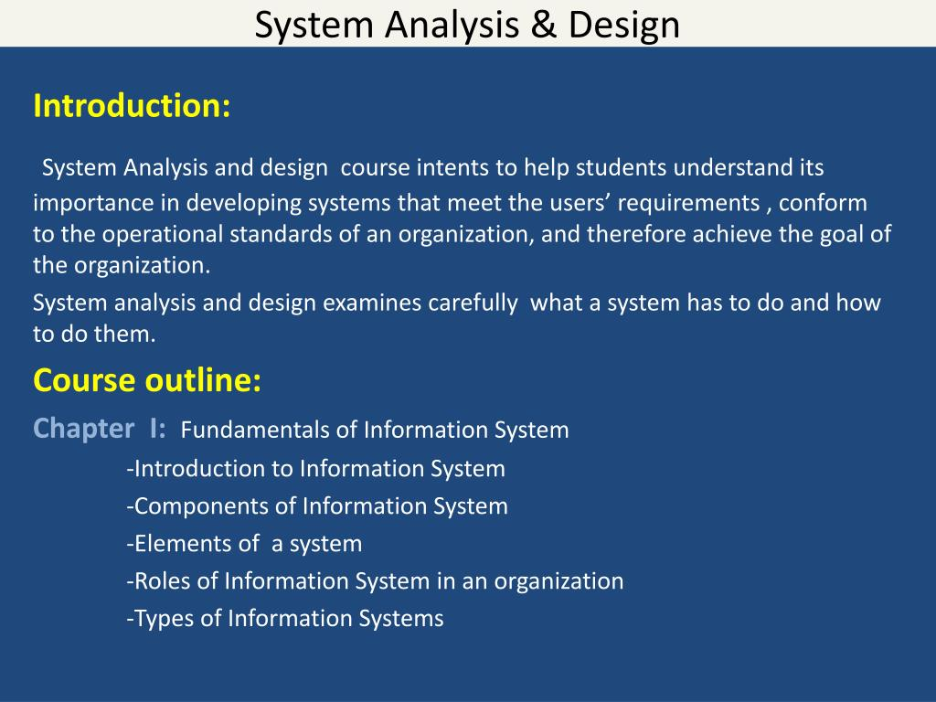 Ppt System Analysis Design Powerpoint Presentation Free Download Id 2933714
