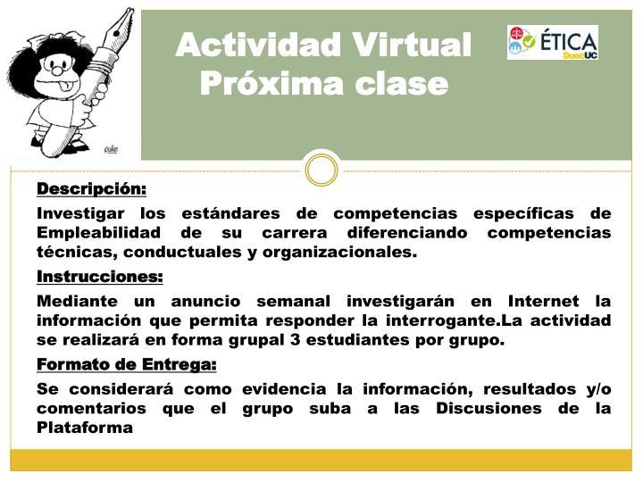 Actividad virtual pr xima clase