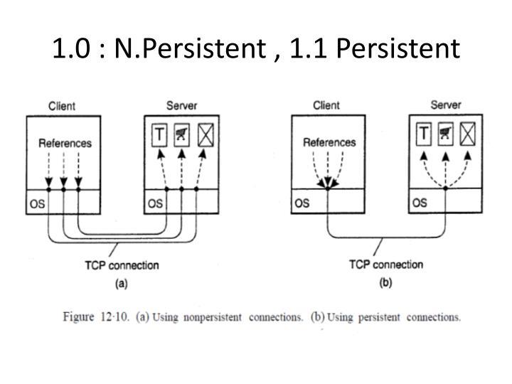 1.0 : N.Persistent , 1.1 Persistent