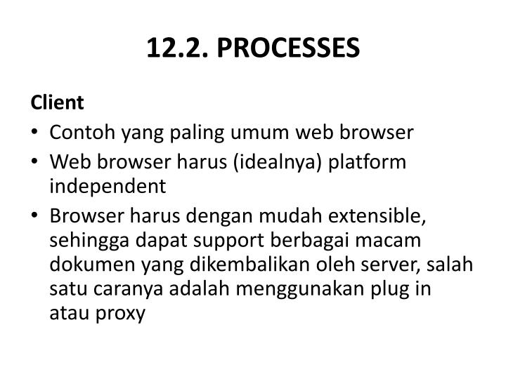 12.2. PROCESSES