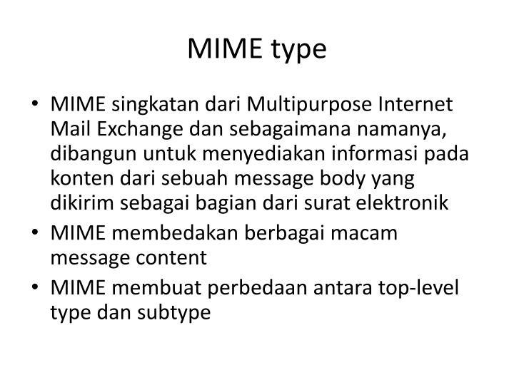 MIME type