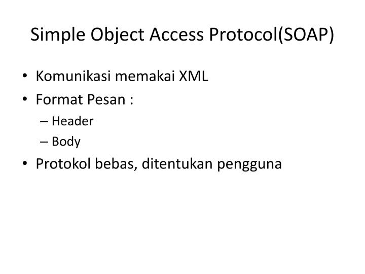 Simple Object Access