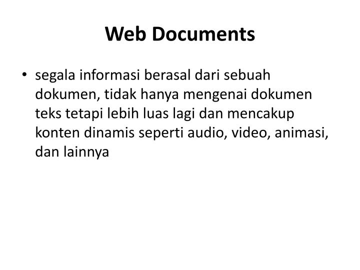 Web documents