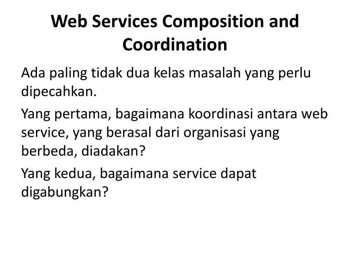 Web Services Composition and