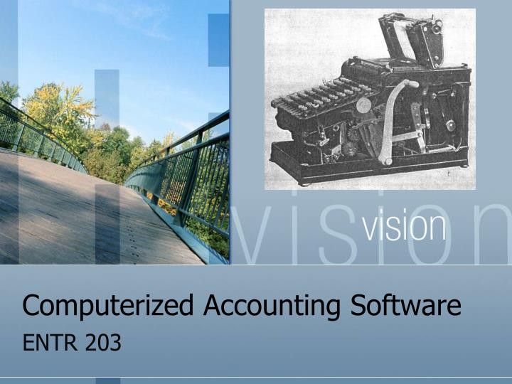 computerized accounting software n.