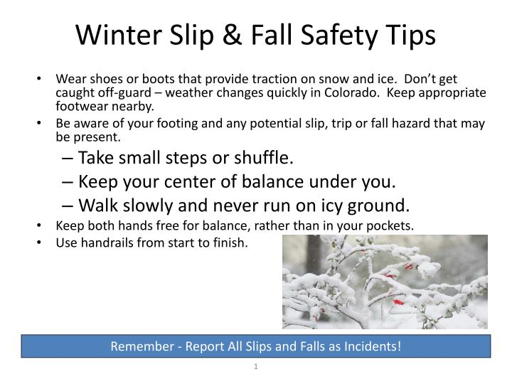 winter slip fall safety tips n.