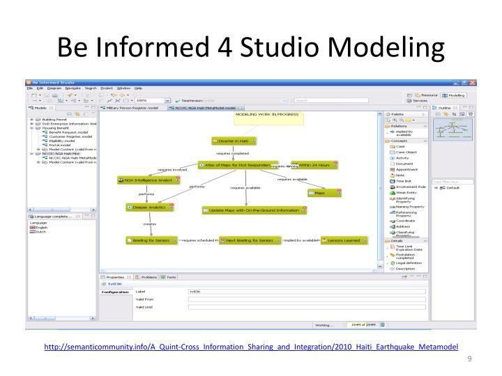 Be Informed 4 Studio Modeling