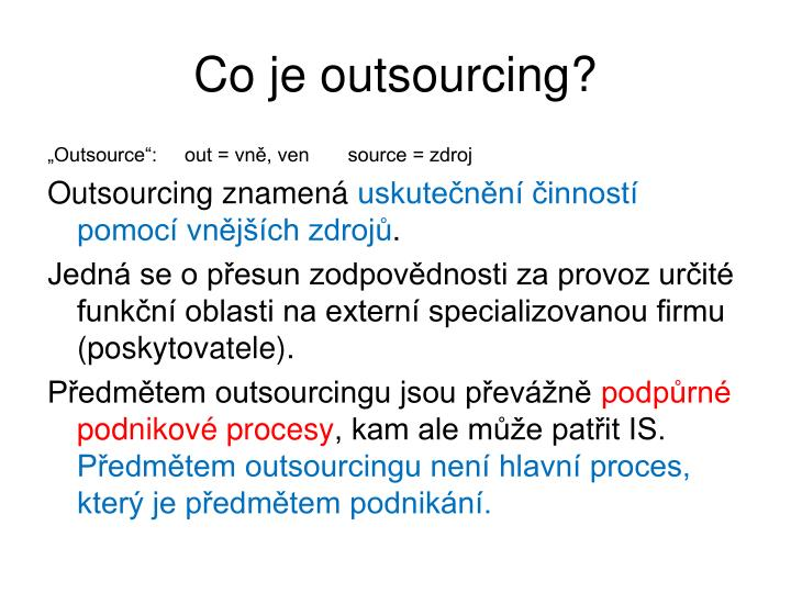 Co je outsourcing