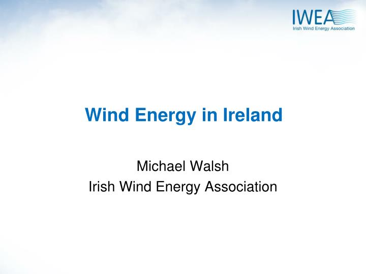 wind energy in ireland n.