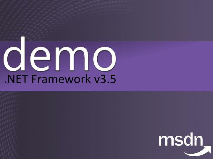 .NET Framework v3.5