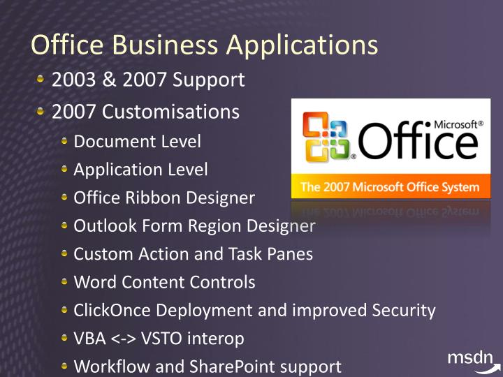 Office Business Applications