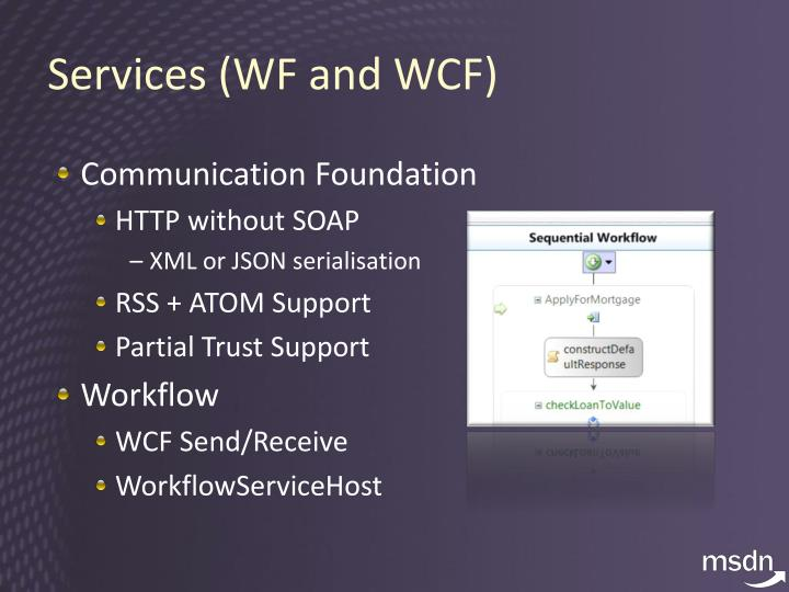 Services (WF and WCF)