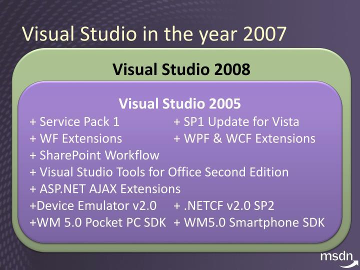 Visual Studio in the year 2007