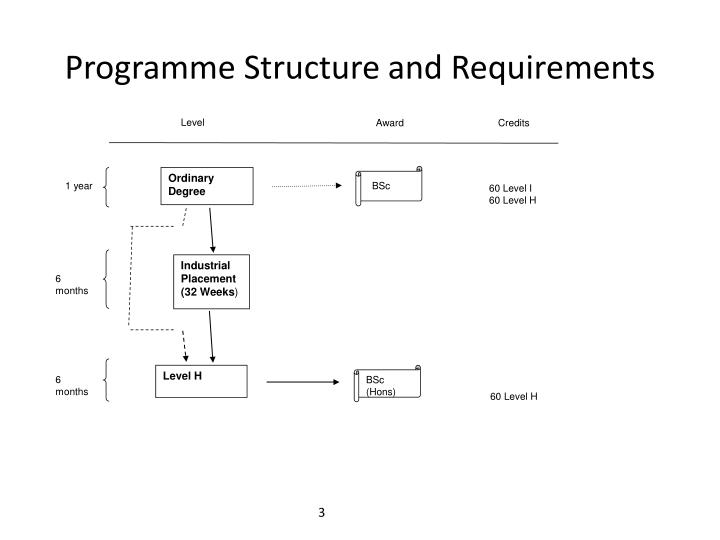 Programme structure and requirements