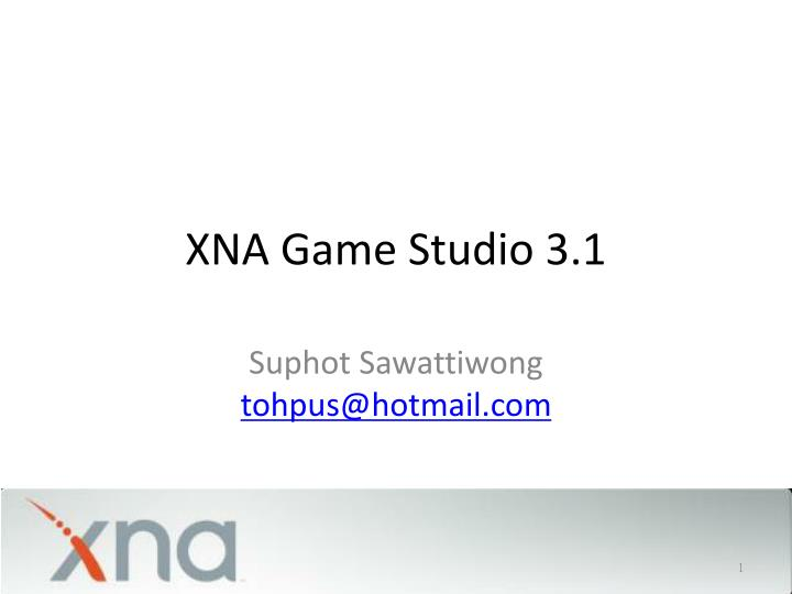 xna game studio 3.1