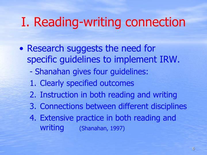 I. Reading-writing connection