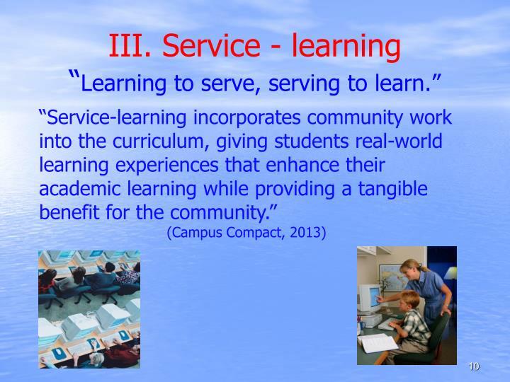 III. Service - learning