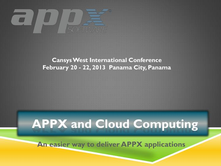 An easier way to deliver appx applications