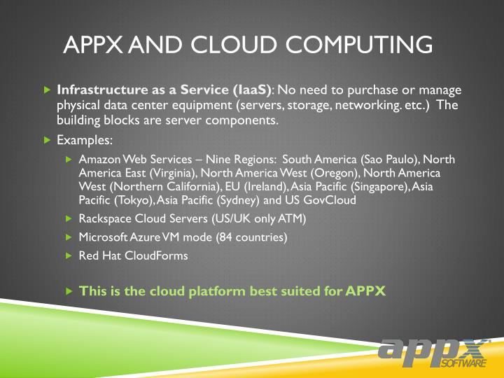 APPX And Cloud Computing