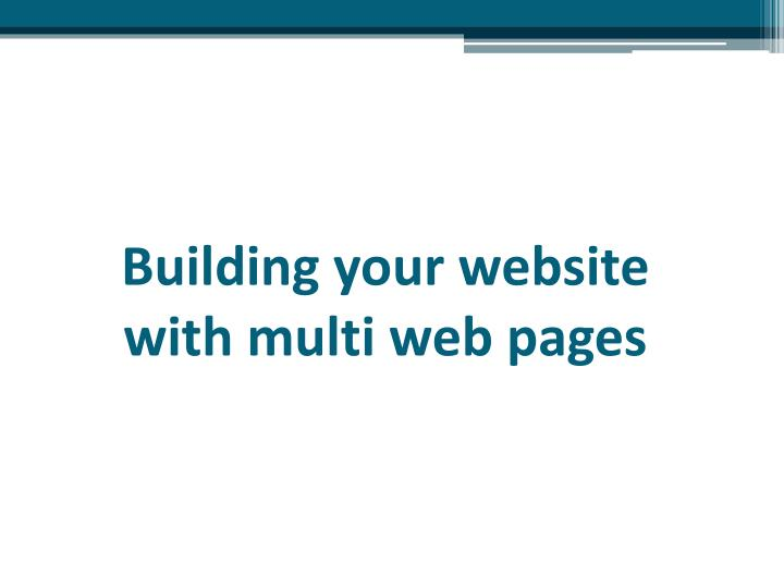 Building your website