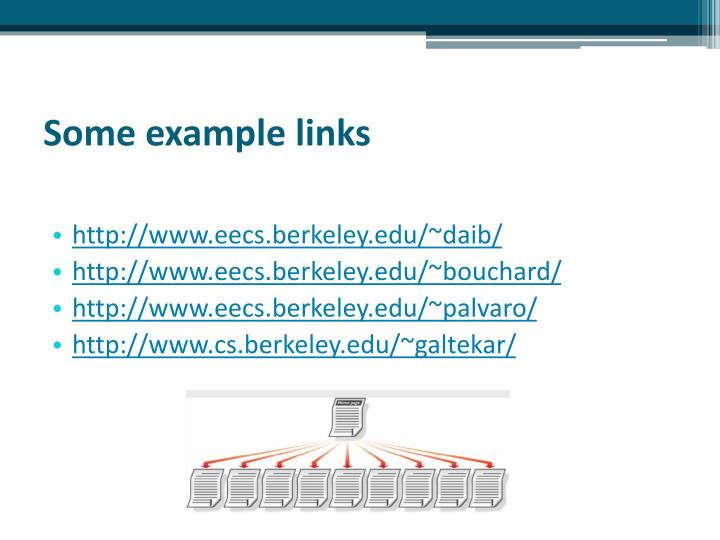 Some example links