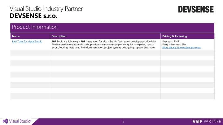 Visual studio industry partner devsense s r o1
