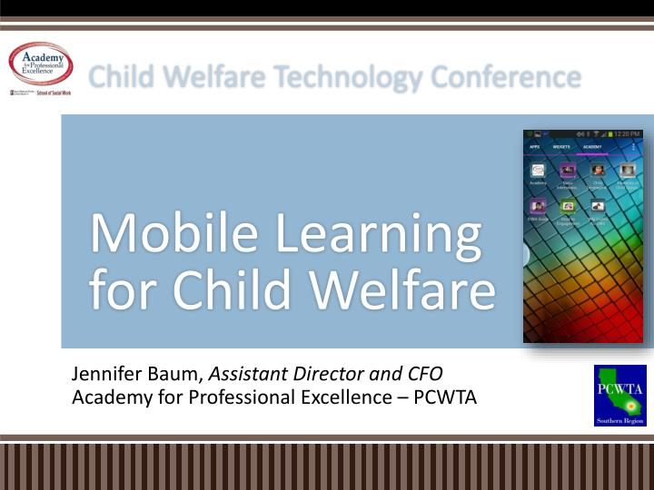 mobile learning for child welfare n.