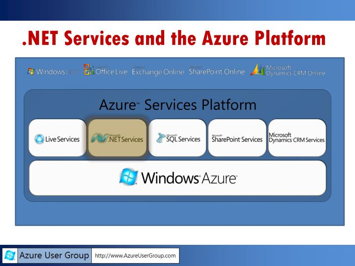 Net services and the azure platform