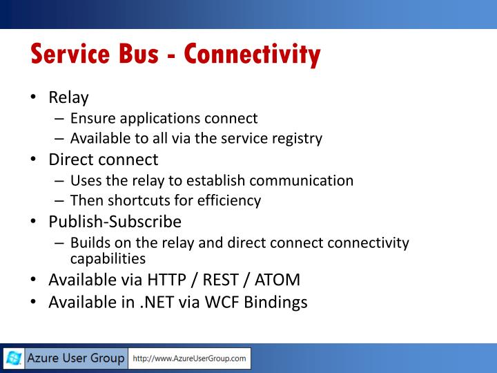 Service Bus - Connectivity
