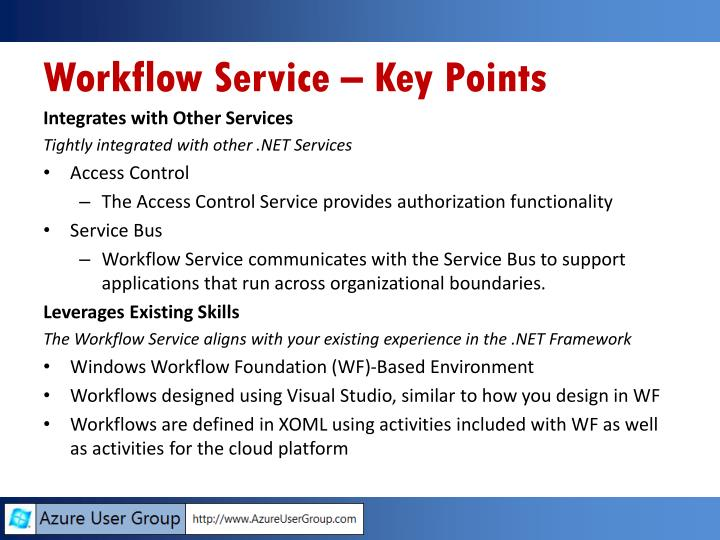 Workflow Service – Key Points