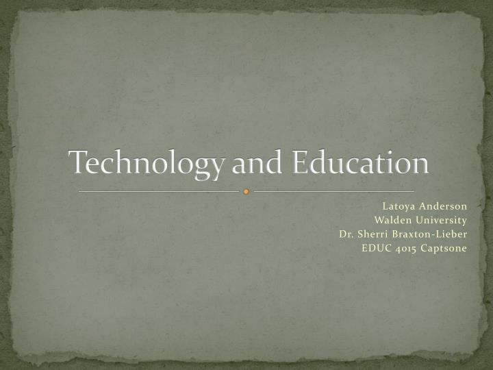 technology and education n.