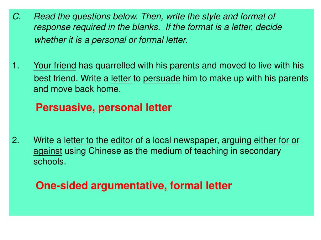 one sided argumentative essay format