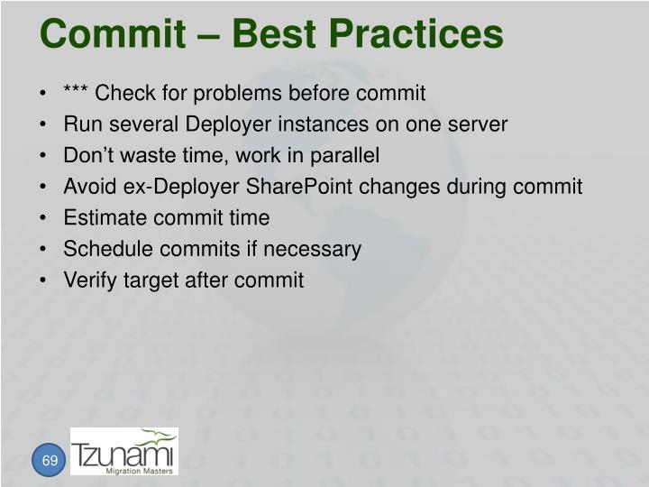 Commit – Best Practices