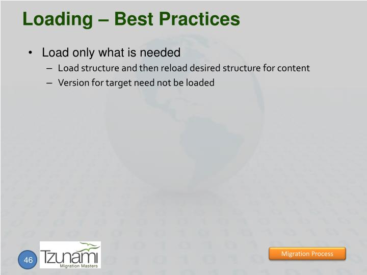 Loading – Best Practices