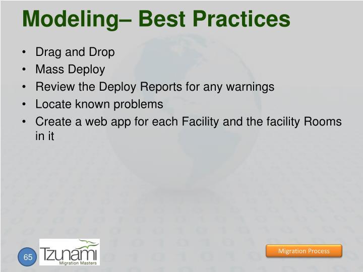 Modeling– Best Practices