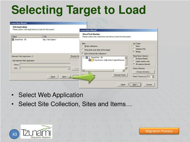 Selecting Target to Load