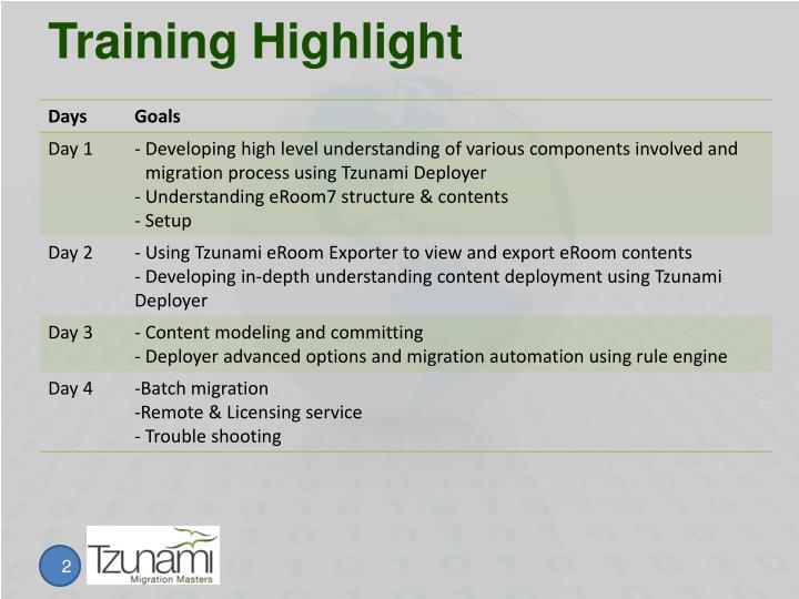 Training highlight