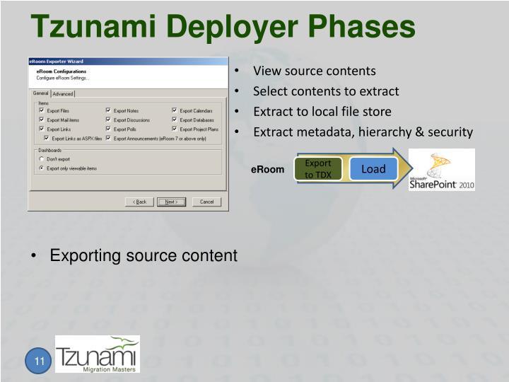 Tzunami Deployer Phases