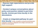 faculty engagement what can we do