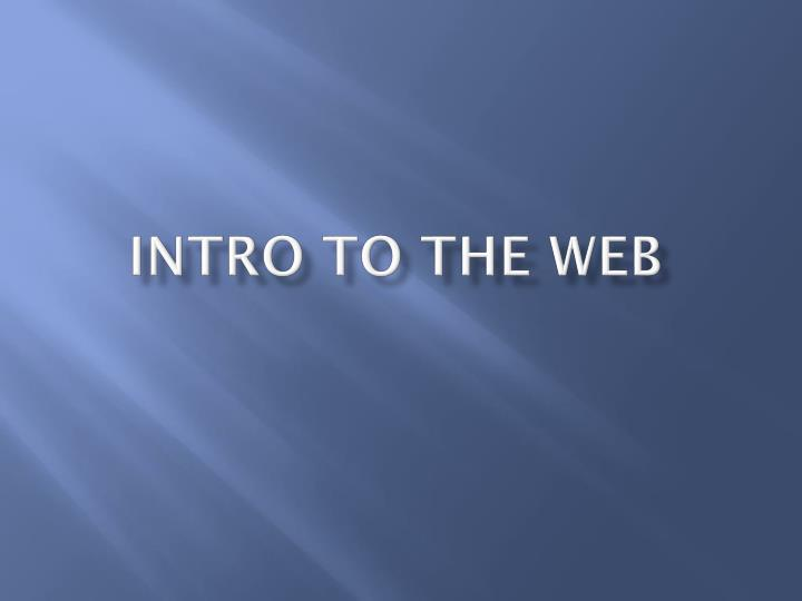 intro to the web n.