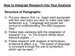 how to integrate research into your analysis3