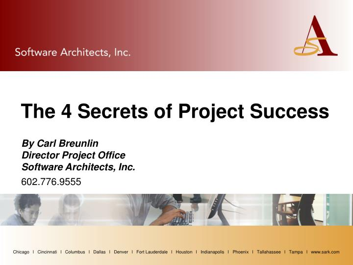 By carl breunlin director project office software architects inc