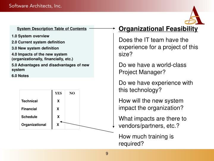 Organizational Feasibility